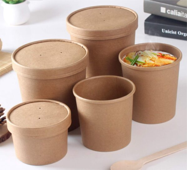 Kraft Paper Soup Tubs