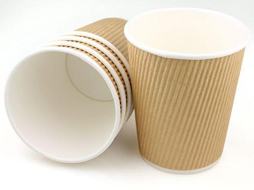 RIPPLE WALL KRAFT PAPER COFFEE CUP - AL FONDOKIA